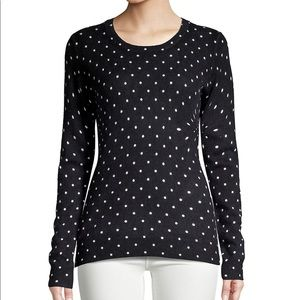 Lord & Taylor cashmere polka dot sweater new tags